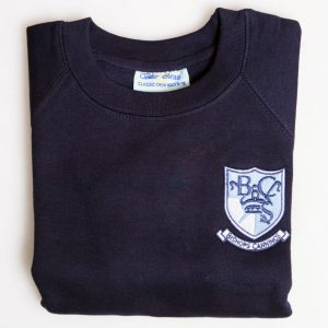 Navy Raglan Sweatshirt – Senior Sizes
