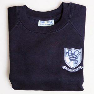 Navy Raglan Sweatshirt – Junior Sizes