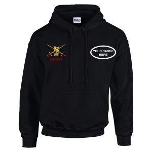 Army Hooded Sweatshirt – Choose your Badge